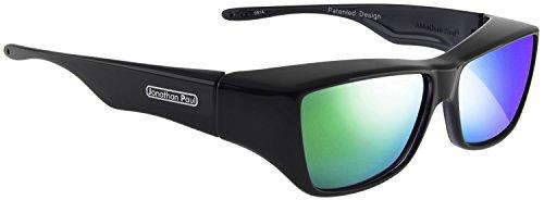 Jonathan Paul Fitovers Neera Large Polarized Over Sunglasses ; Midnite-Oil & Polarvue Green Mirror