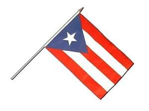 Stock Bandera/Stock Flaggenfritze–Bandera Puerto Rico + Gratis Pegatinas,, Stockflagge 30 x 45 cm