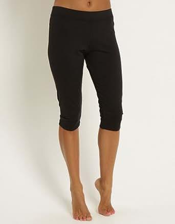 Pure Lime Fitness Women's Capri Running Tights - X Small - Black