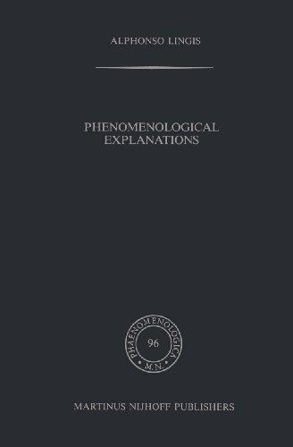 Download Phenomenological Explanations (Phaenomenologica) Pdf
