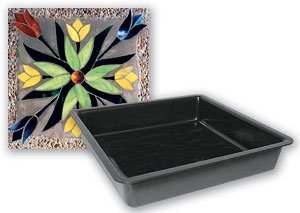 Mosaic Stone Cement - Jennifer's Mosaics Square Outdoor Stepping Stone Mold, 8-Inch