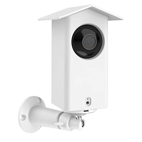 HOLACA Real Water Resistant Protective Case + Metal Wall Mount Bracket for Wyze cam pan,Suitable for Indoor and Outdoor Use,Simple Installation. (White)