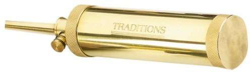 Traditions Performance Firearms Muzzleloader Deluxe Tubular Flask with Valve (brass)