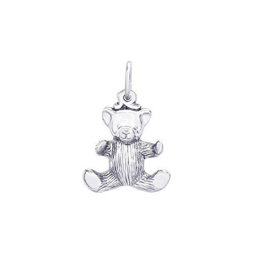 Rembrandt Sterling Silver Teddy Bear Charm - 3D