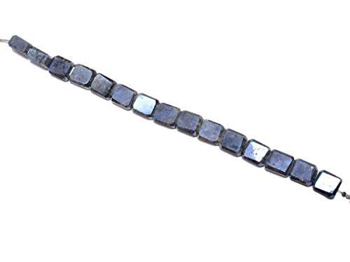 Natural Black Sillimanite (Coated), Listed by BESTINBEADS, AAA Quality Faceted Rectangle Straight Drill semi Precious Gemstone Bead Strand 4 inches Long.