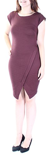 Bar III Womens Ribbed Cap Sleeve Cocktail Dress Purple S from Bar III