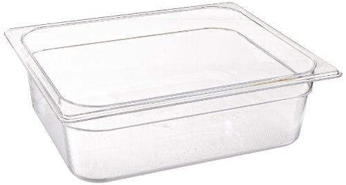 Rubbermaid Commercial Products Cold Food Insert Pan for Restaurants/Kitchens/Cafeterias, 1/2 Size, 4 Inches Deep, Clear ()