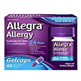 Allegra Allergy 24 Hour Gelcaps, 60 ea - 2pc
