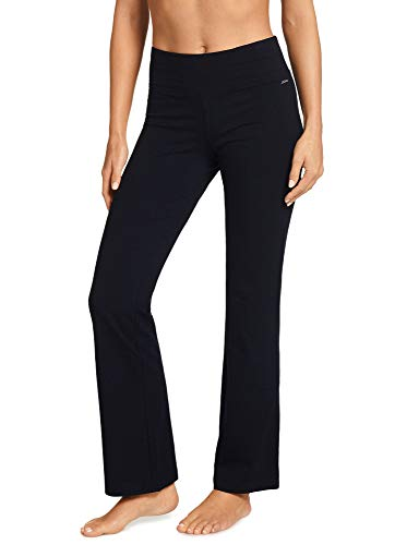 Jockey Women's Slim Bootleg Pant, Black, Medium