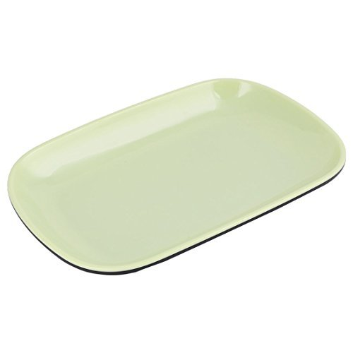 Amazon.com | DealMux melamina Home Kitchen Oval Shaped Fruta vegetal Armazenamento Dinner Plate Bandeja prato verde: Accent Plates
