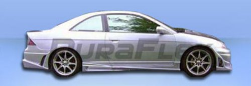 Duraflex Replacement for 2001-2005 Honda Civic 2DR Bomber Side Skirts Rocker Panels - 2 Piece ()