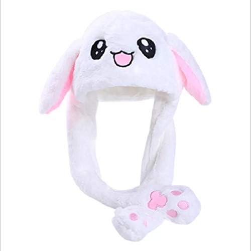 ZhangWei - Gorro de Conejo Unisex con Orejas móviles de Felpa ...