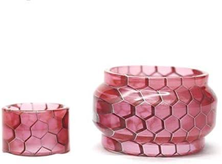 without brand La Piel de Serpiente de la Cobra Resina Drip Tip con Bombilla de reemplazo de Tubos en Forma for SMOK TFV-Mini V2 Tanque de Ajuste for R-Kiss Starter Kit 200W (Color : Rosado)