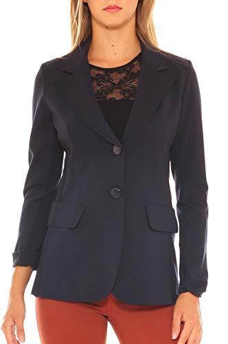 Jersey Notte Fit Giacca Slim Stretch Blu Donna Comfort In Wq1Sv6RTq