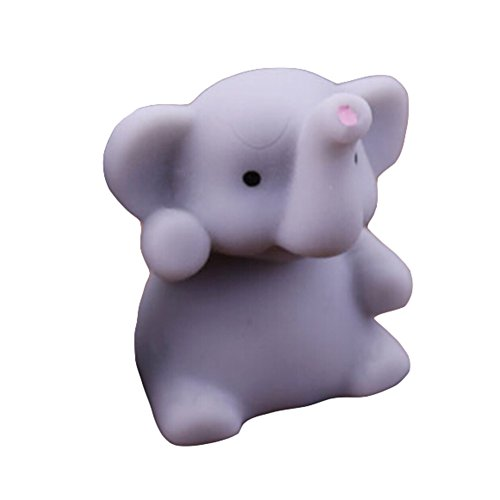 Beautymei 10 Pcs TPR Kawaii Squeeze Elephant Toys for Kids and Adults Decompression or Collection (Ball Elephant Stress)