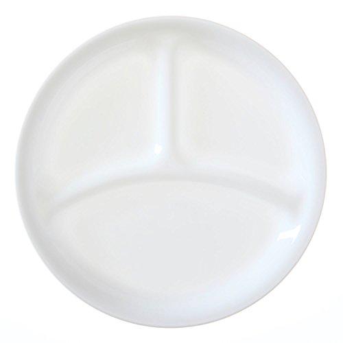 Corelle Livingware 8-1/2-Inch Divided Dish, Winter Frost White