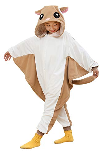 Kids Animal Onesie Flying Squirrel Pajamas for Boys and Girls]()