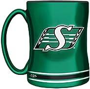 CFL Saskatchewan Roughriders Sculpted Mug, 14-Ounce