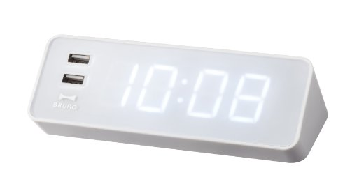 LED Alarm Clock with USB Outlet
