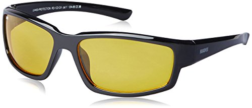 MTV Roadies Unisex Sporty Wrap-Around Protective Light Weight with 100% UV Blocking Shatterproof Polycarbonate Lens Sunglasses RD-122 (Ambermatic Yellow, Ambermatic - Yellow Ambermatic