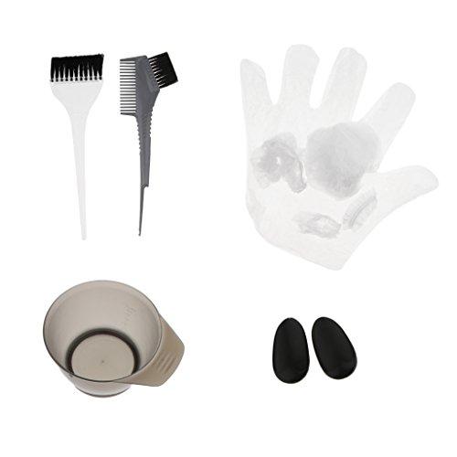 (CUTICATE Salon Hair Coloring Dyeing Kit Color Dye Brush Bowl Earmuff Tint Tool Set)