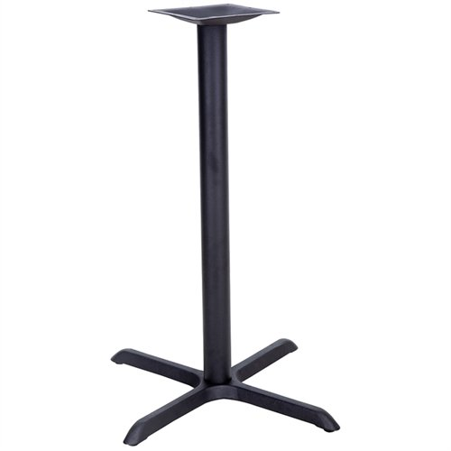 Flash Furniture 30'' x 30'' Restaurant Table X-Base with 3'' Dia. Bar Height Column by Flash Furniture