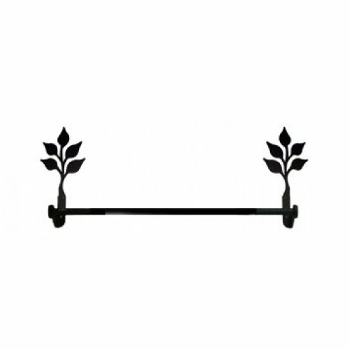 (Village Wrought Iron Leaf - Towel Bar Small)