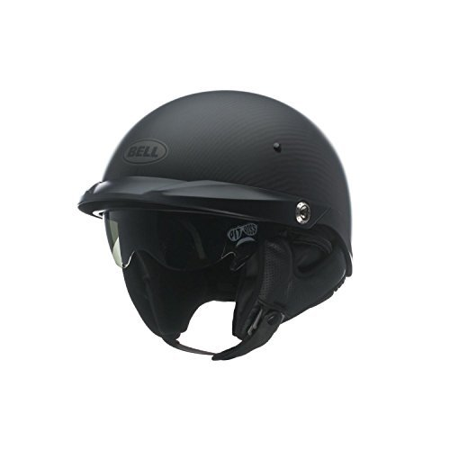 Bell Pit Boss Carbon Matte Half Helmet - (Carbon Half Helmet)