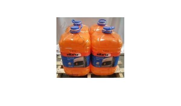 Zibro Kristal - Combustible líquido universal, 4 unidades, para cualquier estufa, 20 l, inodoro: Amazon.es: Hogar