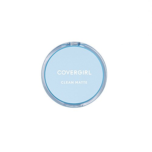 COVERGIRL Clean Matte Pressed Powder, 1 Container (0.35 oz), Classic Ivory Warm Tone, Oil Control Face Powder, Fragrance Free (packaging may vary) -