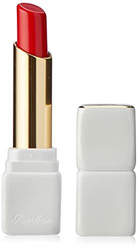 Lipstick Guerlain Red - Guerlain Kisskiss Roselip Hydrating and Plumping Tinted Lip Balm, R329 Crazy Bouquet, 0.09 Ounce