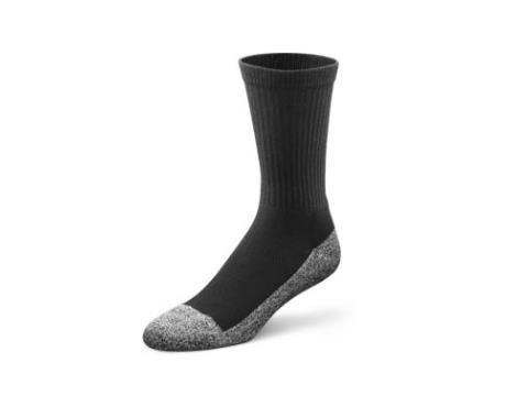 (Dr. Comfort Diabetic Extra Roomy Socks, Black, Medium (1 Pair))