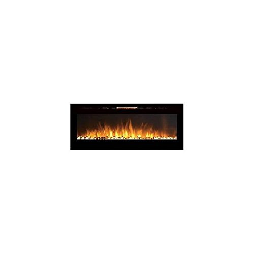 Gibson Living GL2060WS Reno 60 Inch Pebble Built-In Recessed Obstacle Mounted Electric Fireplace