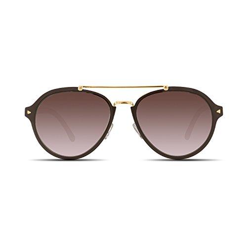 Velvet Trends Jesse | Aviator Metal Frame Women Sunglasses (Copper Frame/Rose Brown Lens)