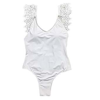 b7fae3ac5 Ansenesna Traje De BañO Una Pieza Mujer Monokini Espalda Abierta ...