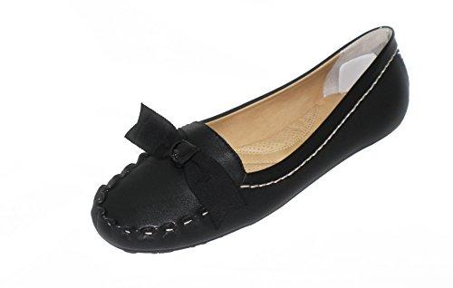 Adrienne Vittadini Kvinna Synk Svarta Loafers, 8,5 M Oss