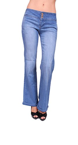 Flare One Button Jeans - 4