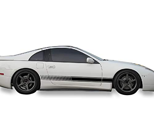 Bubbles Designs 2X Decal Sticker Vinyl Side Racing Stripes Compatible with Nissan 300ZX Z32 ()