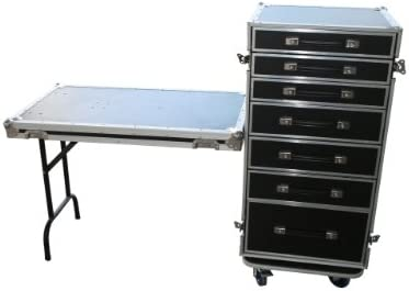 Toolcase 7 Schubladen Case Flightcase Rack Tisch Case Büro