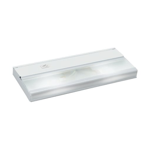 Kichler 10580WH TaskWork Direct Wire 12IN 2LT 12V Xenon Undercabinet Light, White Finish with Frosted Glass Diffuser 12 Inch Xenon 2 Light