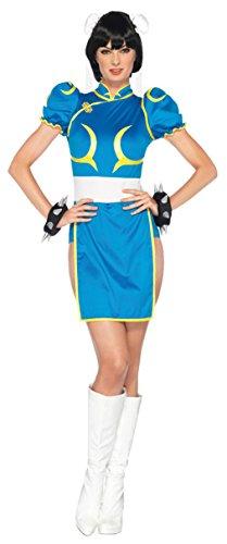 [Leg Avenue Womens Street Fighter Chun Li'S Halloween Costume, S/M (4-8)] (Chun Li Wig)