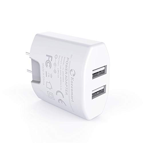 Wall Charger, Eseesmart 2 Port USB 5V/4A Power Adapter Universal 2.1A Dual Port USB Cube Power Adapter for iPhone Xs/XR/X/8/7/6 Plus/iPad, Samsung Galaxy LG Motorola and More