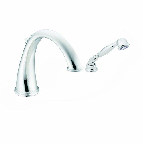 Moen T9212 Kingsley High Arc Roman Tub Faucet Includes Hand Shower IO-Digital Technology, Chrome ()