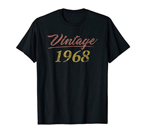 Vintage 1968 Happy 51th Birthday Party Retro Style Shirt -