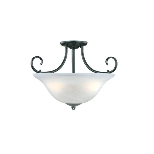 Millennium Lighting 53-BK Main Street 3-Light Semi-Flush in Black