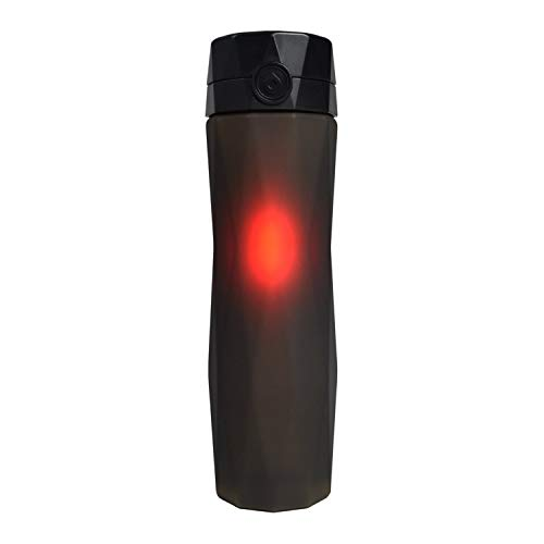 Bottle Water Hydracoach (Hidrate Spark 2.0A Smart Water Bottle - New & Improved - Tracks Water Intake & Glows to Remind You to Stay Hydrated (Black))