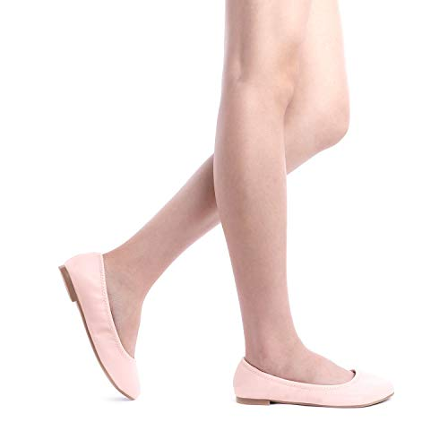 32f116f53034 DREAM PAIRS Women s Sole Happy Pink Ballerina Walking Flats Shoes - 8 ...