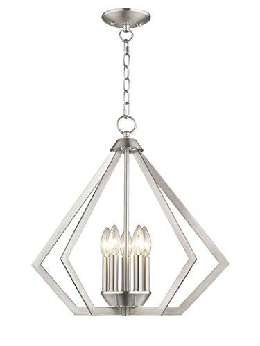 Livex Lighting 40925-91 Prism 5 Light Chandelier, Brushed Nickel