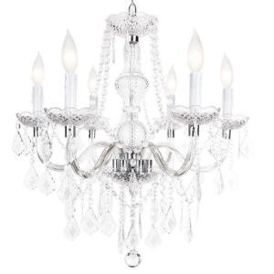 Maria Theresa 6-Light Chandelier Chrome