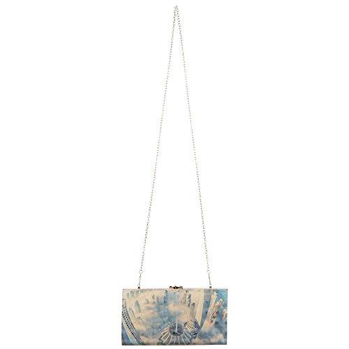 Ital-DesignClutch-tasche Bei Ital-design - Bolso de botón Mujer azul claro